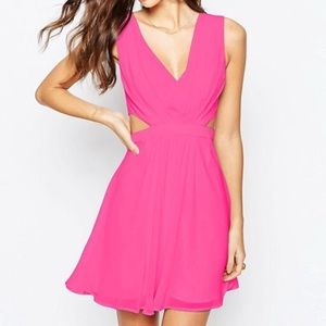 Pink Cut Out Skater Dress NWT